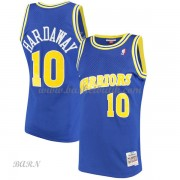 Barn NBA Tröja Golden State Warriors 1990-91 Tim Hardaway 10# Blue Hardwood Classics..