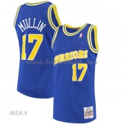 Barn NBA Tröja Golden State Warriors 1993-94 Chris Mullin 17# Blue Hardwood Classics..