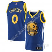 Barn NBA Tröja Golden State Warriors 2019-20 DeMarcus Cousins 15# Blå Icon Edition Swingman..