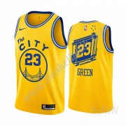 Barn NBA Tröja Golden State Warriors 2019-20 Draymond Green 23# Gul Classics Edition Swingman..