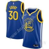 Barn NBA Tröja Golden State Warriors 2019-20 Stephen Curry 30# Blå Icon Edition Swingman