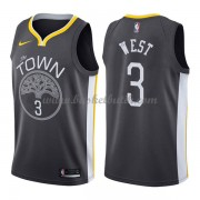 Golden State Warriors Basket Tröja 2018 David West 3# Statement Edition..