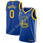 Golden State Warriors Basket Tröja 2019-20 D'Angelo Russell 0# Blå Icon Edition Swingman..