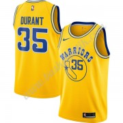 Golden State Warriors Basket Tröja 2019-20 Kevin Durant 35# Guld Hardwood Classics Swingman..