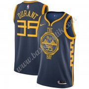 Golden State Warriors Basket Tröja 2019-20 Kevin Durant 35# Marinblå City Edition Swingman..