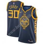Golden State Warriors Basket Tröja 2019-20 Stephen Curry 30# Marinblå City Edition Swingman..