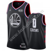 Golden State Warriors 2019 Demarcus Cousins 0# Svart All Star Game NBA Basketlinne Swingman..