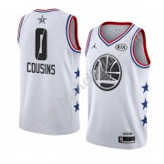 Golden State Warriors 2019 Demarcus Cousins 0# Vit All Star Game NBA Basketlinne Swingman..