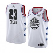 Golden State Warriors 2019 Draymond Green 23# Vit All Star Game NBA Basketlinne Swingman..