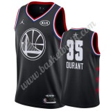 Golden State Warriors 2019 Kevin Durant 35# Svart All Star Game NBA Basketlinne Swingman