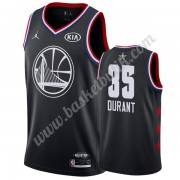 Golden State Warriors 2019 Kevin Durant 35# Svart All Star Game NBA Basketlinne Swingman..