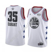 Golden State Warriors 2019 Kevin Durant 35# Vit All Star Game NBA Basketlinne Swingman..