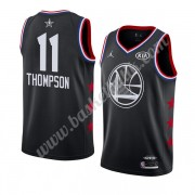 Golden State Warriors 2019 Klay Thompson 11# Svart All Star Game NBA Basketlinne Swingman..