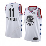 Golden State Warriors 2019 Klay Thompson 11# Vit All Star Game NBA Basketlinne Swingman..