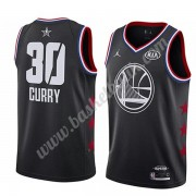 Golden State Warriors 2019 Stephen Curry 30# Svart All Star Game NBA Basketlinne Swingman..