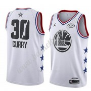Golden State Warriors 2019 Stephen Curry 30# Vit All Star Game NBA Basketlinne Swingman..
