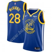 Golden State Warriors Basket Tröja 2019-20 Alfonzo McKinnie 28# Blå Icon Edition Swingman..