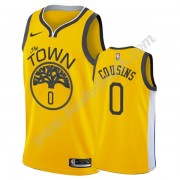 Golden State Warriors Basket Tröja 2019-20 DeMarcus Cousins 0# Guld Earned Edition Swingman..