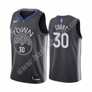 Golden State Warriors Basket Tröja 2019-20 Stephen Curry 30# Svart City Edition Swingman..