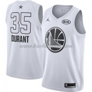 Golden State Warriors Kevin Durant 35# Vit 2018 All Star Game NBA Basketlinne..
