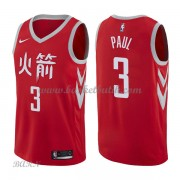 Barn NBA Tröja Houston Rockets 2018 Chris Paul 3# City Edition..