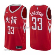 Barn NBA Tröja Houston Rockets 2018 Ryan Anderson 33# City Edition..