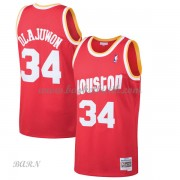 Barn NBA Tröja Houston Rockets 1993-94 Hakeem Olajuwon 34# Red Hardwood Classics..
