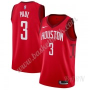 Barn NBA Tröja Houston Rockets 2019-20 Chris Paul 3# Röd Earned Edition Swingman..