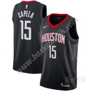 Barn NBA Tröja Houston Rockets 2019-20 Clint Capela 15# Svart Statement Edition Swingman..