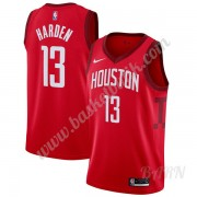 Barn NBA Tröja Houston Rockets 2019-20 James Harden 13# Röd Earned Edition Swingman..