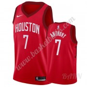 Barn NBA Tröja Houston Rockets 2019-20 Carmelo Anthony 7# Röd Earned Edition Swingman..