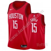 Barn NBA Tröja Houston Rockets 2019-20 Clint Capela 15# Röd Earned Edition Swingman..