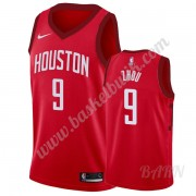 Barn NBA Tröja Houston Rockets 2019-20 Zhou Qi 9# Röd Earned Edition Swingman..