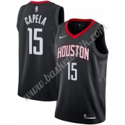 Houston Rockets Basket Tröja 2019-20 Clint Capela 15# Svart Statement Edition Swingman..
