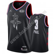 Houston Rockets 2019 Chris Paul 3# Svart All Star Game NBA Basketlinne Swingman..
