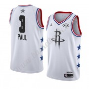 Houston Rockets 2019 Chris Paul 3# Vit All Star Game NBA Basketlinne Swingman..