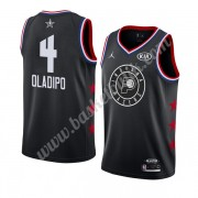 Indiana Pacers 2019 Victor Oladipo 4# Svart All Star Game NBA Basketlinne Swingman..