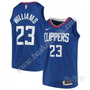 Barn NBA Tröja Los Angeles Clippers 2019-20 Lou Williams 23# Blå Icon Edition Swingman..