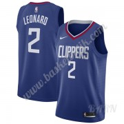 Barn NBA Tröja Los Angeles Clippers 2019-20 Kawhi Leonard 2# Blå Icon Edition Swingman
