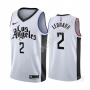 Barn NBA Tröja Los Angeles Clippers 2019-20 Kawhi Leonard 2# Vit City Edition Swingman..