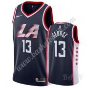 Barn NBA Tröja Los Angeles Clippers 2019-20 Paul George 13# Marinblå City Edition Swingman..