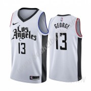 Barn NBA Tröja Los Angeles Clippers 2019-20 Paul George 13# Vit City Edition Swingman..