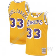 Barn NBA Tröja Los Angeles Lakers 1984-85 Kareem Abdul-Jabbar 33# Guld Hardwood Classics Swingman..