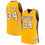 Barn NBA Tröja Los Angeles Lakers 1999-00 Shaquille O'Neal 34# Guld Hardwood Classics Swingman..