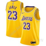 Barn NBA Tröja Los Angeles Lakers 2019-20 LeBron James 23# Guld Icon Edition Swingman