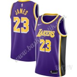 Barn NBA Tröja Los Angeles Lakers 2019-20 LeBron James 23# Lila Replica Statement Edition Swingman