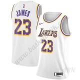 Barn NBA Tröja Los Angeles Lakers 2019-20 LeBron James 23# Vit Association Edition Swingman