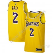 Barn NBA Tröja Los Angeles Lakers 2019-20 Lonzo Ball 2# Guld Icon Edition Swingman..