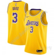Barn NBA Tröja Los Angeles Lakers 2019-20 Anthony Davis 3# Guld Icon Edition Swingman