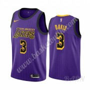 Barn NBA Tröja Los Angeles Lakers 2019-20 Anthony Davis 3# Lila City Edition Swingman..